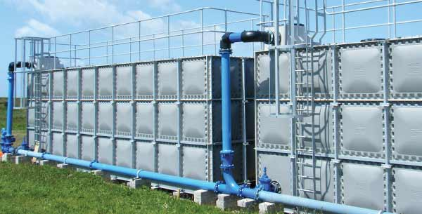 GRP sectional tanks
