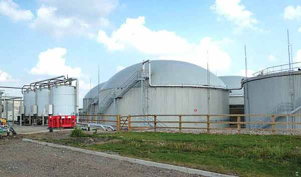 Biogas plant example