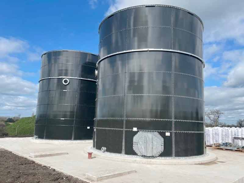 Glass fused to steel (GFS) tanks installed at STW facility