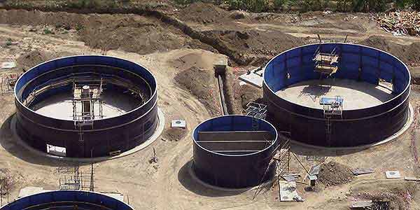 Balmoral epoxy coated steel tank installation