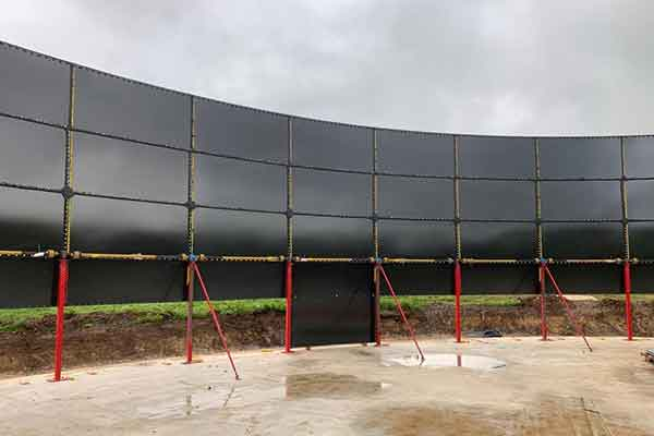 Glass fused to steel tank installation 2